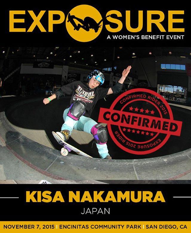Kisa Nakamura (@kisanakamuraa) confirmed for EXPOSURE 2015!