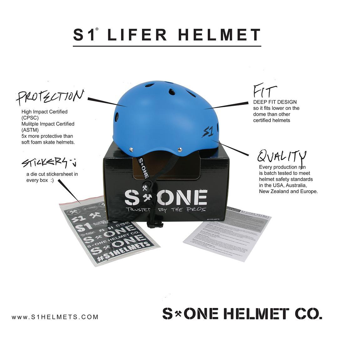 We interrupt your Instagram feed with 4 reasons why the S1 Lifer Helmet is radical: Protection, Fit , Quality and Stickers