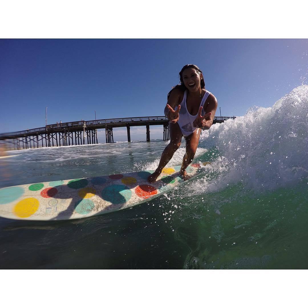 #AkelaSurf Ambassador @vanessayeager #surf #surfswimwear #newportbeach