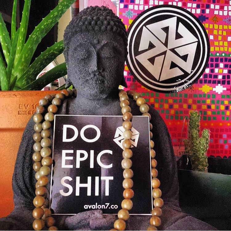 Weekend mantra brought to you by #av7artist @gnugurl and #avalon7. #liveactivated #doepicshit #sticker #om  Available at www.avalon7.co