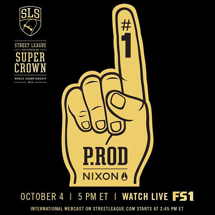 Repost this image, tag @PRod84 and hashtag #SuperCrown for a chance to win a Paul Rodriguez Signature watch! #NixonNow Winner will be announced next week. #StreetLeague #SLSWorldTour
