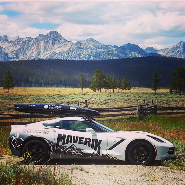 We are proudly partnered with @teammaverik, @andy_wingit and @skifastfish. They are a group of extreme #athletes that travel the world doing as many #sports as possible. Check out our logo on their #corvette! #sportscar #travel #teammaverick...