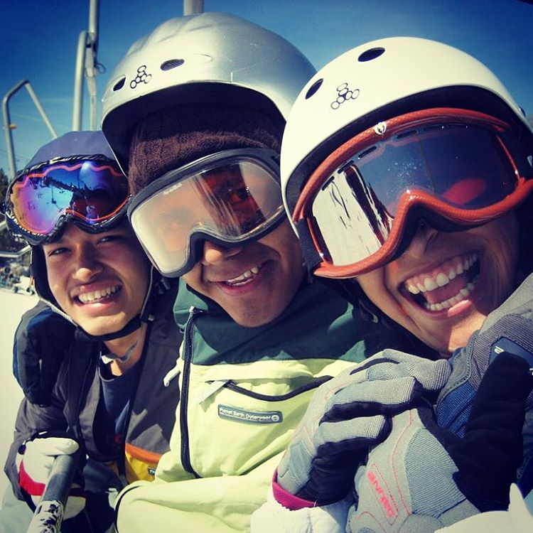Love these stoked smiles on the mountain!