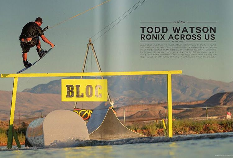 Check out the latest issue of @unleashedwakemag featuring @_toddwatson and his trip across the US. @blocwakepark @system2parks # #ronixlove #fortifiedwithlakevibes #oneloveinwake #ohyeah