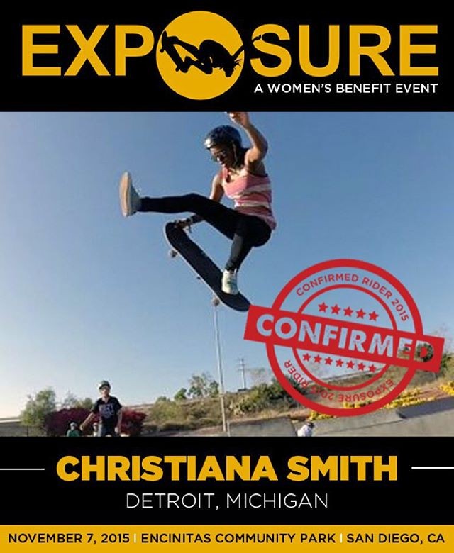 Christiana Smith (@christianasmith) confirmed for EXPOSURE 2015!