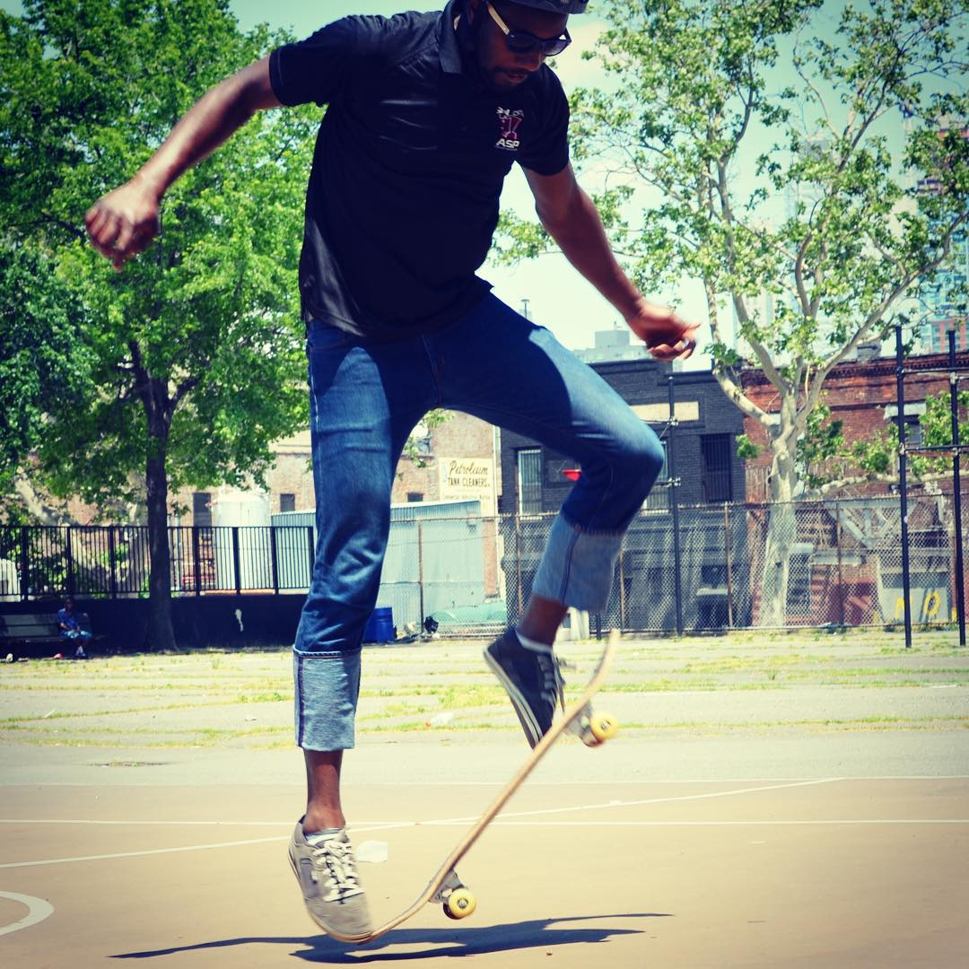 Skater skills on display.