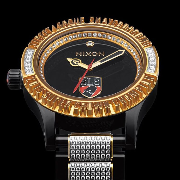 Introducing the 2015 @streetleague championship watch. Tune into the @streetleague Skateboarding webcast to find out who is bringing home the title, the cash and the #SLS @NikeSB Super Crown World Championship #Nixon 51-30 watch. #NixonNow...