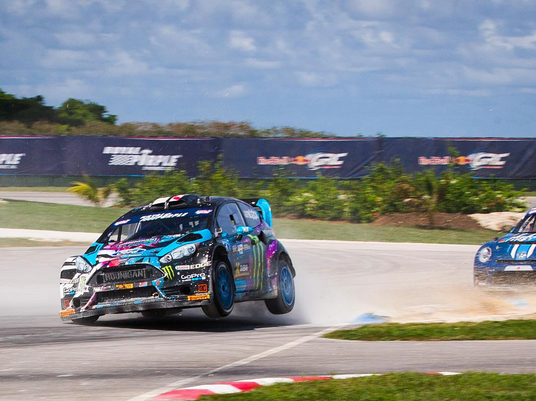 Just took third in my semifinal here at #GlobalRallycross Barbados. That feels good. Better than my bad luck earlier today! Hopefully I can keep this momentum going into the Final, which starts soon. #BushyPark #backinaction