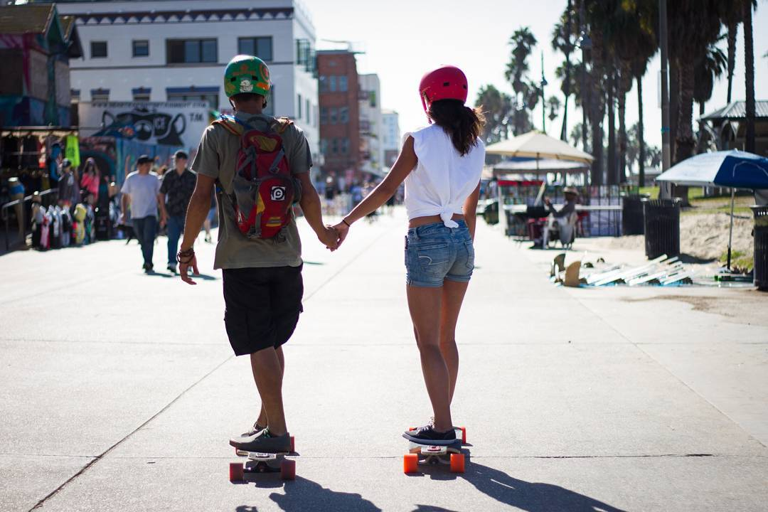 A couple that skates together, stays together!  Tag someone you wouldn't mind skating 18 miles with for #SkatetheCoast!  Photo Credit: @tyler_rice  #LoadedBoards #Orangatang @B4BC #LoadedAmbassadors