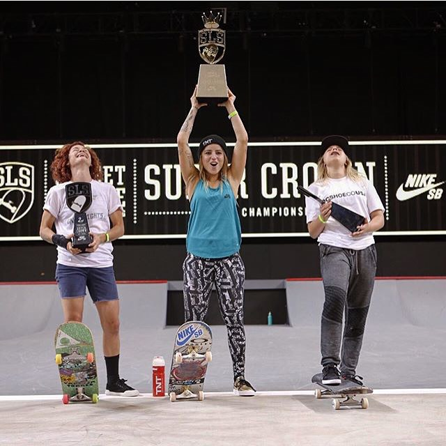 @leticiabufoni just won @streetleague's first ever Women Division.  2. @loccnessy  3. @alanasmithskate  4. @leeroythegreat  What an event! So much work behind this to finally get a Women Division on Street League. First of many. Go ladies go!! Thanks...