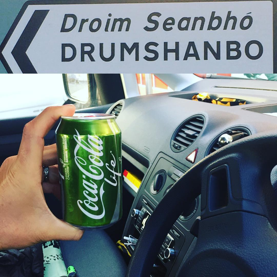 Signs that you might be on a surf trip in Ireland... Green cans of Coke, the steering wheel on the wrong side, and roads that only the GPS can find for you ;)