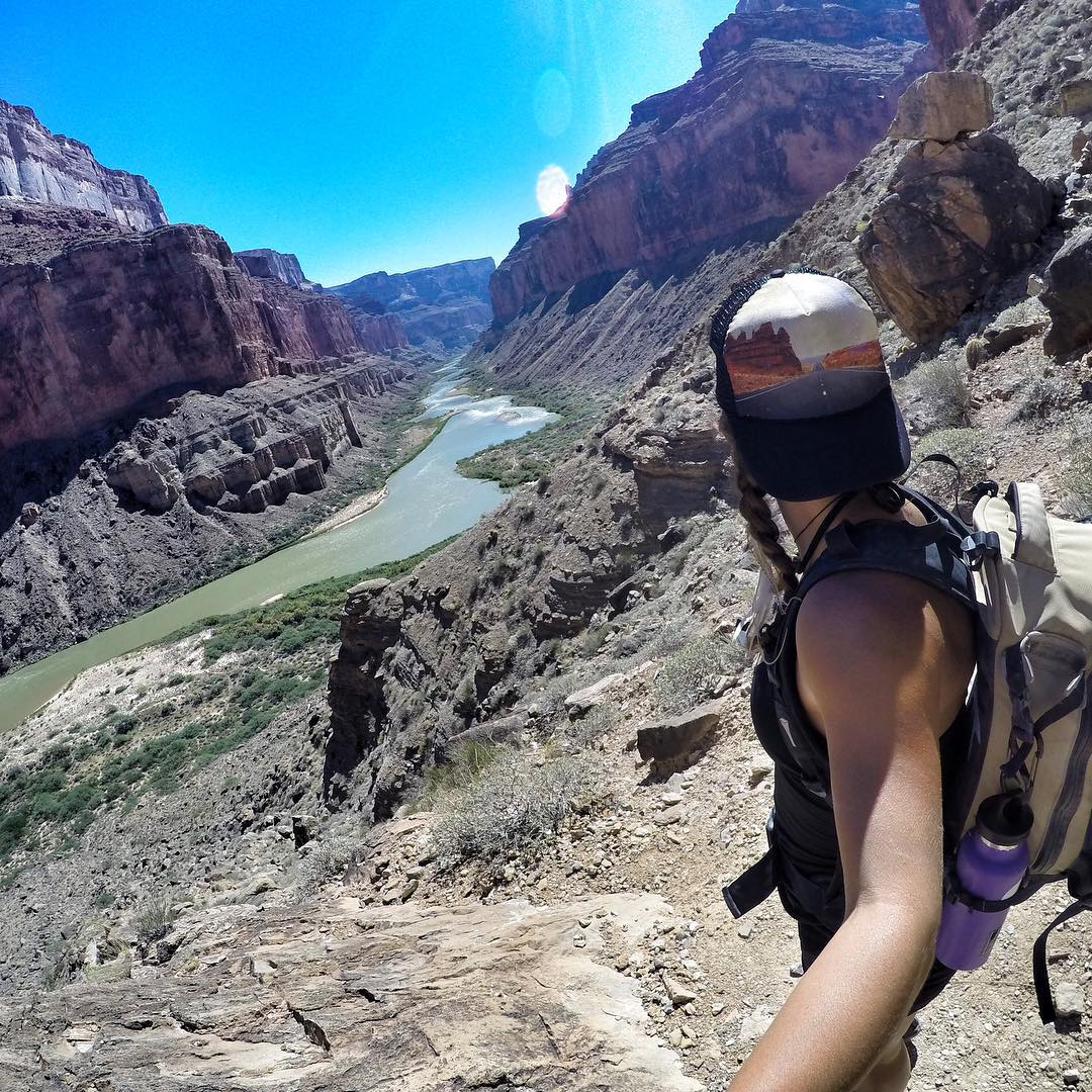 Back from an epic river trip down the Grand Canyon! Greats runs and perfect weather. Couldn't have asked for a better trip!! Here's a killer view of the Nankoweap Hike. More pics to come! #grandcanyon #rivertrip #azra #gopro hat: @heidi_michele_design