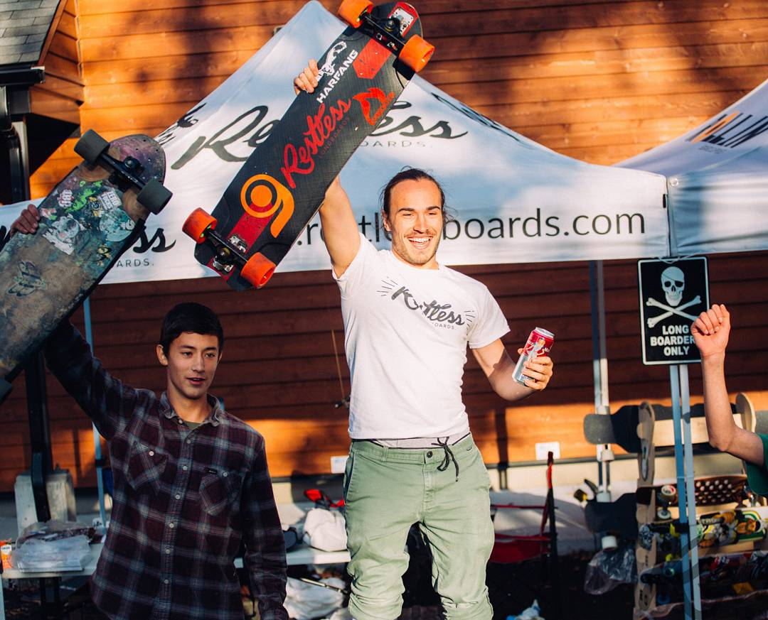 @charlesouimet did it!  Congratulations on the first place at the #restlessnhdh15 yesterday!! #restlessboards #restlessnkd