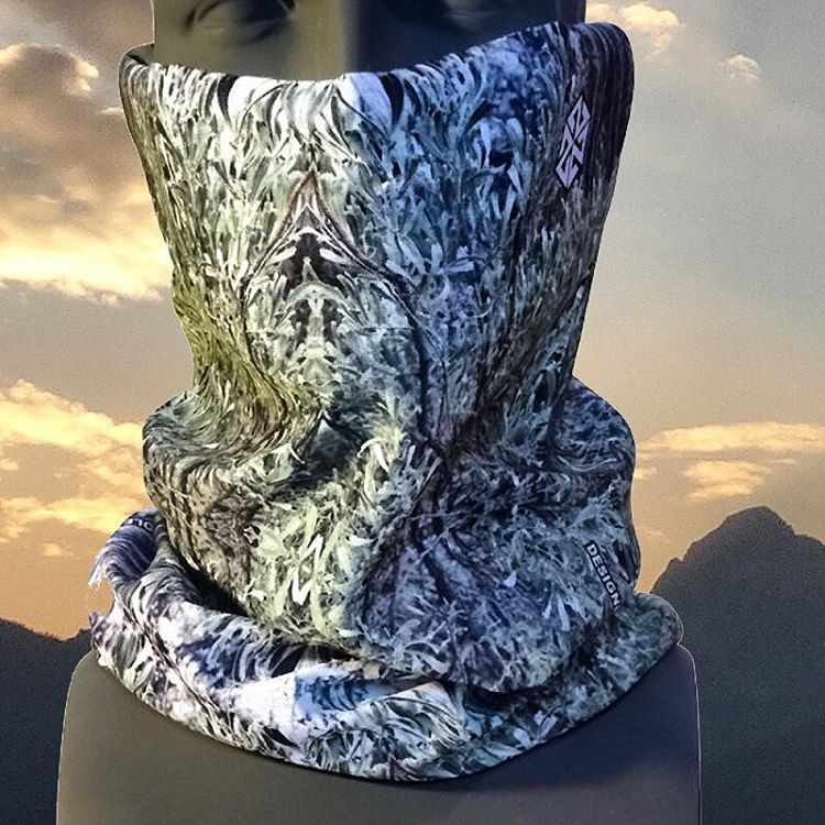 This faceshield is called Follow the Sage. This amazing kaleidoscopic image of sagebrush photographed in #jacksonhole is dye sublimated on our signature Stetchsoft fabric, which has the perfect balance of warmth and lightweight function. You can wear...