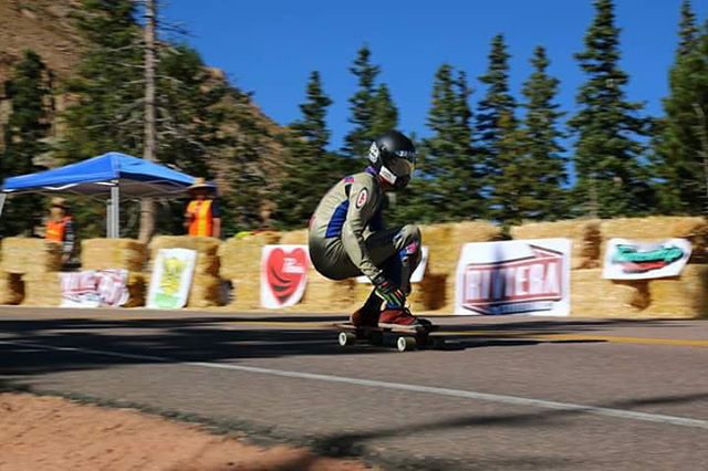 @ajschu - Peaking at altitude during last months @pikespeakworldcup in Colorado.
