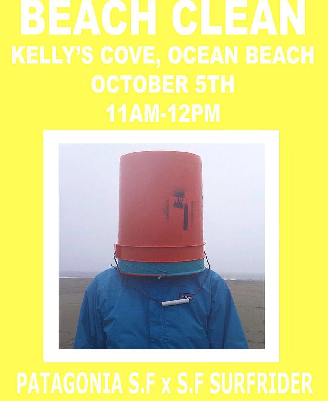 Beach Clean tomorrow Monday Oct 5th 11-12noon Kelly's Cove by @patagoniasf + #sfsurfrider #beachcleanup #sanfrancisco #riseaboveplastics #sf