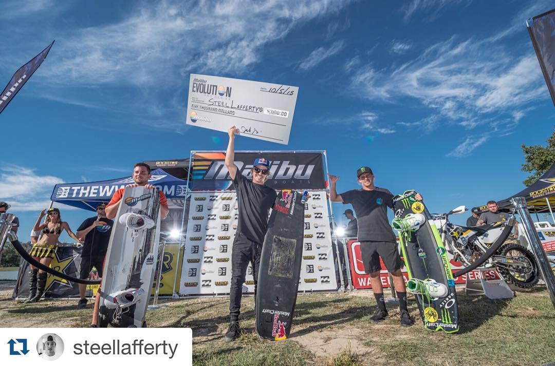 Congrats to our boy @steellafferty on winning the Malibu Pro Evolution Series! Wearing the Kameleonz Floatables while hoisting his 1st Place check!  #Kameleonz #enjoytheride #wakeboarding --- #Repost @steellafferty. ・・・ Wow, can't believe I just won...
