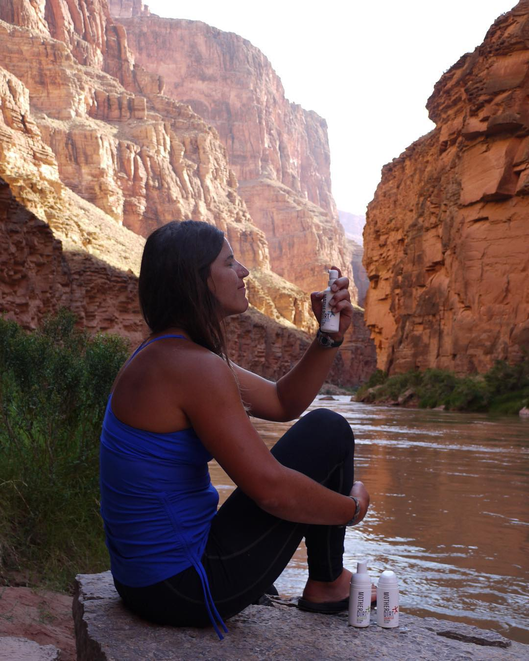 Product Testing @motherdirt during my 2 weeks in the Grand Canyon. Probiotic Cleansers and Mists are much needed for this desert riverrat in the hot dry southwest! #motherdirt #grandcanyon #rivertrip #photo @gracedbygrit @astralfootwear