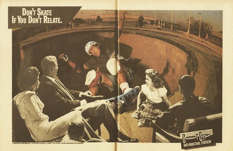 #skateboarding #centerfold ADD by #gotcha - @steviecab - 1988