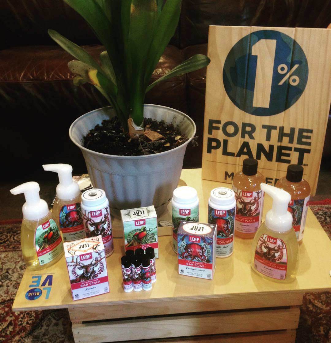Thanks to 1% for the Planet @leaporganics for our surprise goods, and thank you for making your business and engine for positive environmental change. #giveback