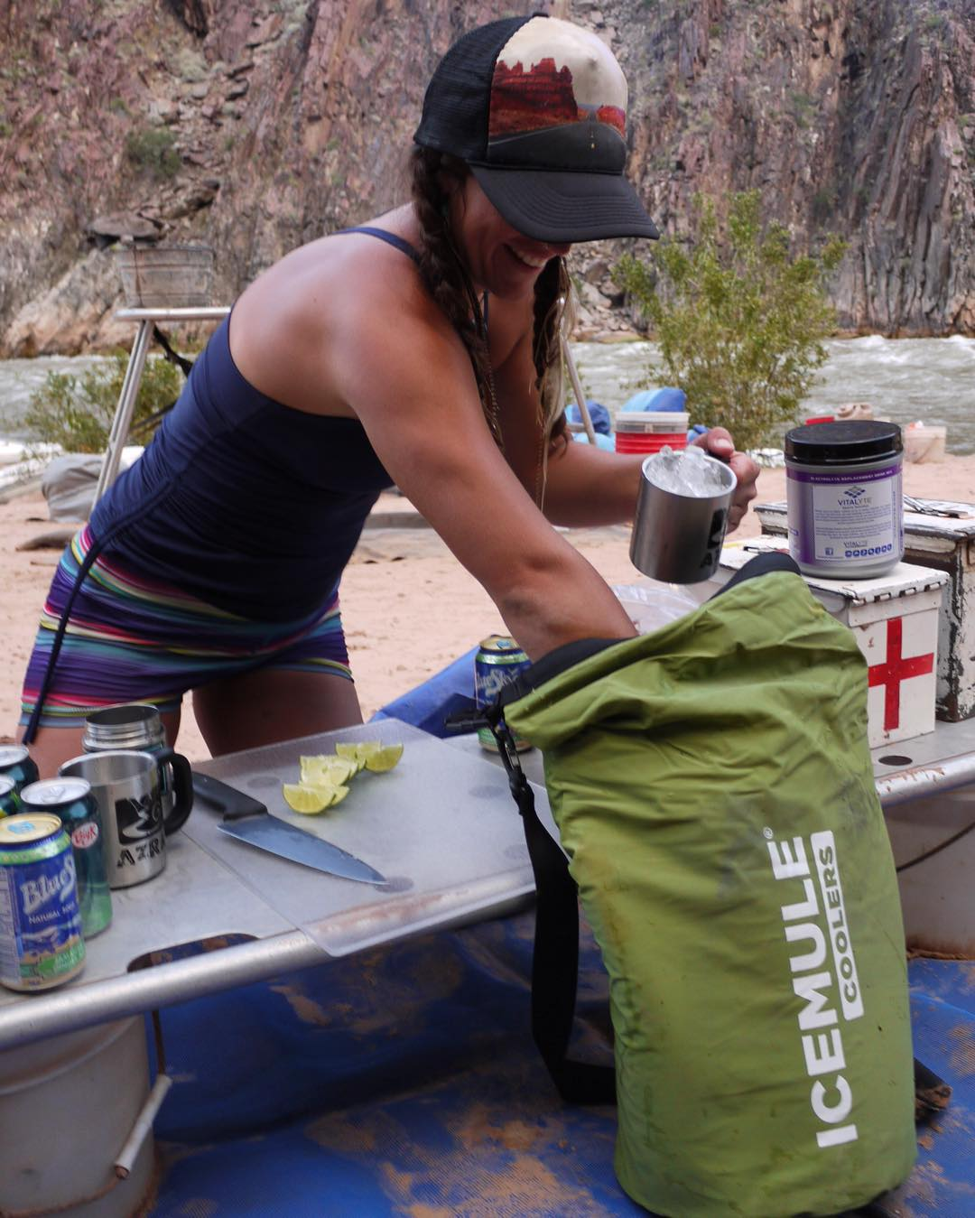 Grand Canyon Mule? Ice in the Desert? Damn straight. Thanks @icemulecoolers for keeping my crushed ice going strong for all my beverage needs! #grandcanyon #rafting #rivertrip #photo