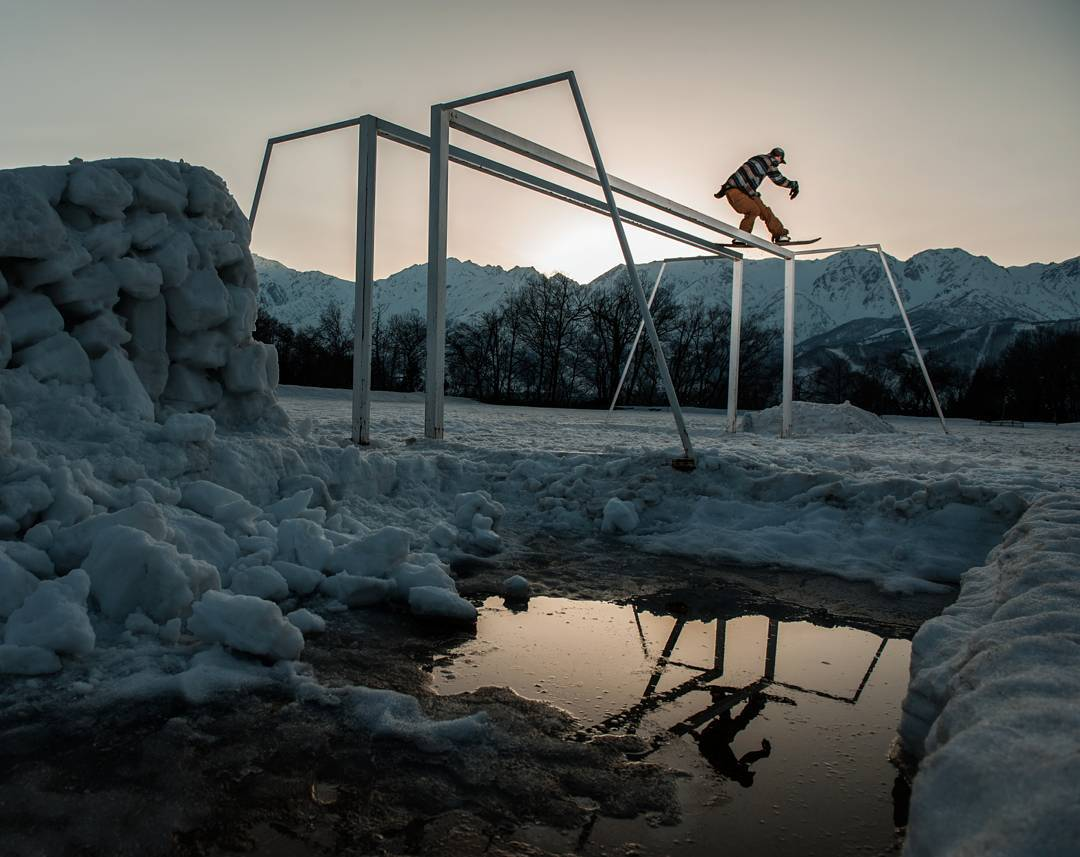 Reflection photo of @IanSams while filming for the first episode in the #FluxBindings #ReNamed series called the Japan Mini Movie.  Watch it on www.SNOWBOARDER.com  Photo by: @zizophoto  #FluxReNamed #Flux #snowboarding #snowboards #snowboard #bindings...