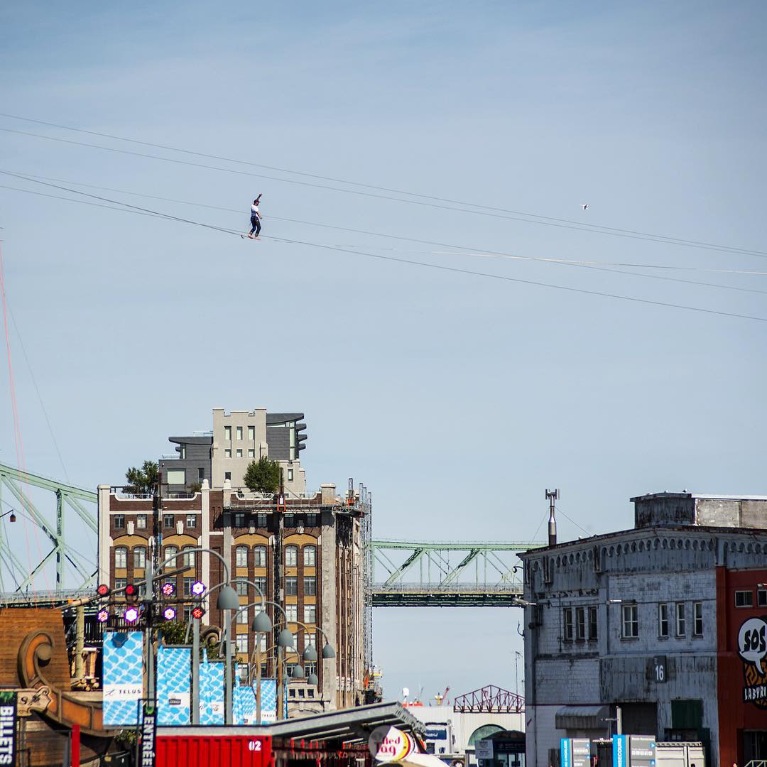 It was an absolute blast watching @handsomerobinson walk a 1000-ft line in the Old Port of Montreal yesterday. Congrats on a great show, buddy! #getoutthere #adventureworthy #highline #reallyhighup