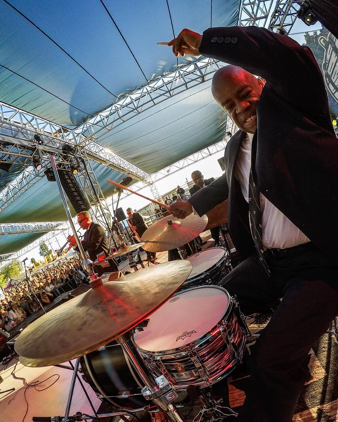@joefishsticks of the @preshallband spreading New Orleans-style Jazz to the people! The Preservation Hall Jazz Band was founded in the French Quarter of New Orleans and now tours the world more than 150 days a year. #GoProMusic #MusicMonday