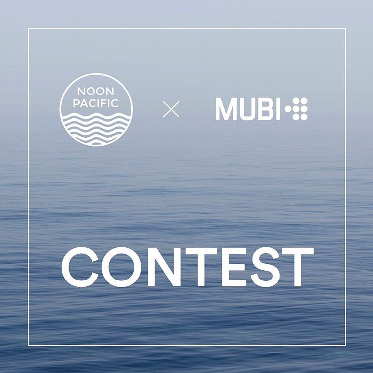 Tag your photos @noonpacific and #noonpacific for a chance to win a free year of @MUBI — which is basically Netflix for cult, classic and indie films.  Our favorite 25 pictures will be awarded next Monday (10/12) at noon. That's 25 chances to win, so...