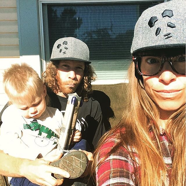 Panda Poles... It's a family affair... Panda Face Wool Flat Brim available only at:  PandaPoles.com/collections/swag!  Promo code TRIBE UP = 20% OFF!  Photo: @mophofomo  #PandaPoles #PandaTribe