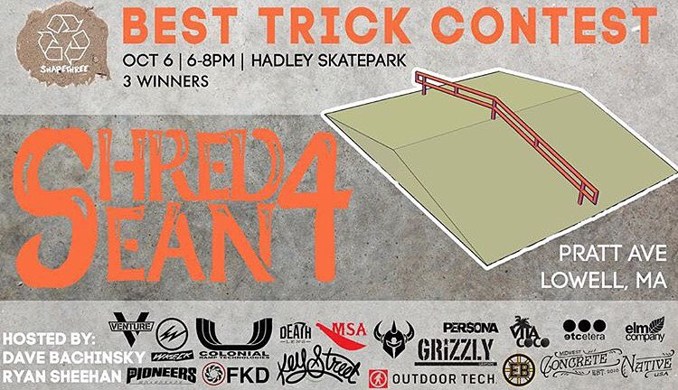 @Davebachinsky & @Therealryeguy raised money to build this A-frame! After the rain delay last Saturday, today is the DAY!!! They're having a best trick contest (which we are a proud sponsor!) from 6-8PM  @ Hadley Skatepark  Pratt Ave. in Lowell, MA....
