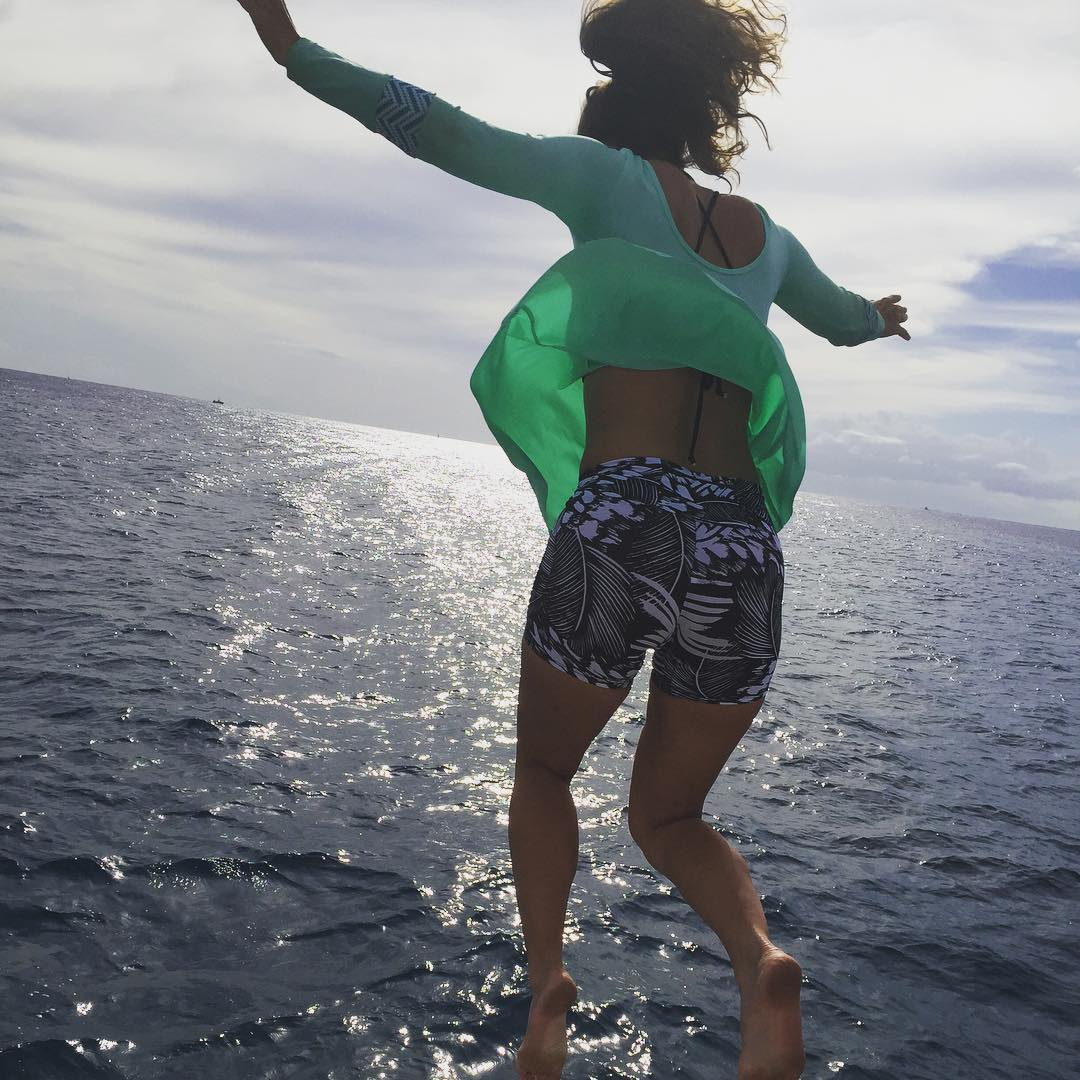 Tuesdays are a snooze, get out and #jump #surf #party #play #allthethings #rashguard #dress available at kinda-fancy.com