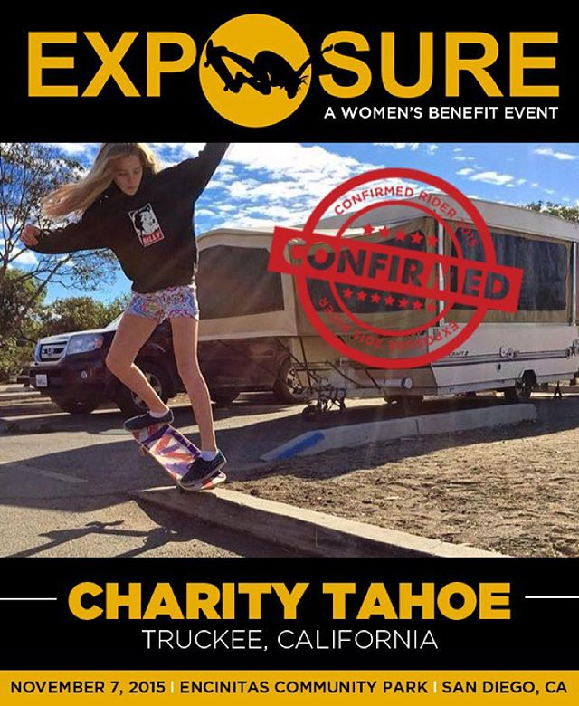 Charity Tahoe (@charitytahoe) confirmed for EXPOSURE 2015!