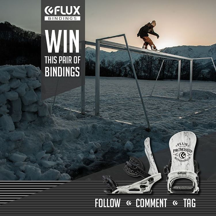 WIN FLUX! Flux Bindings is giving away this set of TEAM Bindings! To Enter: Go to @fluxbindings and FOLLOW our gram feed, make a COMMENT on our WIN FLUX post and TAG three of your friends in your comment. The winner will be selected by Flux team rider...
