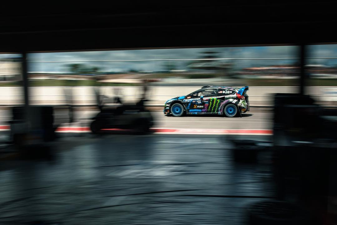 Love this shot by @Larry_Chen_Foto while passing through the paddock and out on the racetrack last weekend at #GlobalRallycross Barbados. #flyby #spacecar #hyperspeed