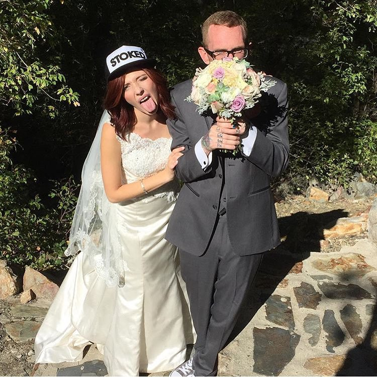 Huge congrats to @al_tulin and #av7renegade DJ Bonneville for getting hitched and keeping the stoke high! #avalon7 #liveactivated #stoked #snapbackhat www.avalon7.co
