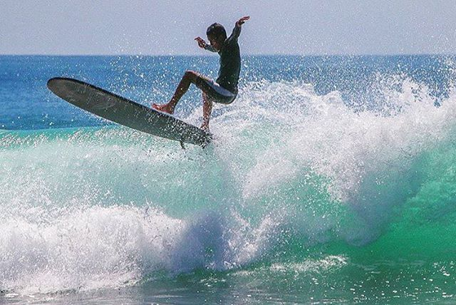 Team Rider @mauizack808 about to make his landing #surf #inspiredboardshorts