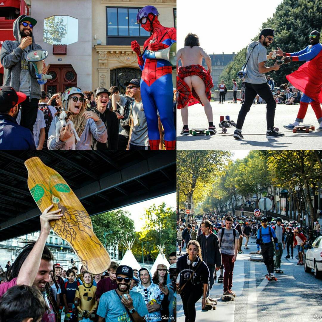 What do you get when #LoadedAmbassador @lotfiwoodwalker rounds up 1,000+ skaters to charge the streets of Paris, France wearing costumes and dancing to the Bee Gees?  LA GROSSE RANDO!  On the 27th of September, Paris was literally taken over block by...