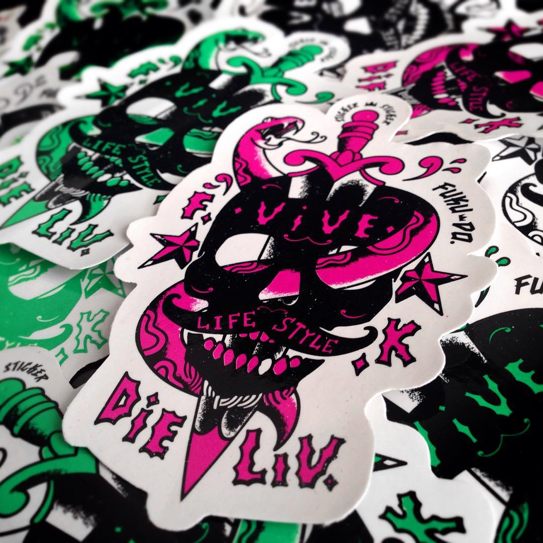 STICKERS Summer Soon 16 FUKU-DO #stickers #tattoo #summer