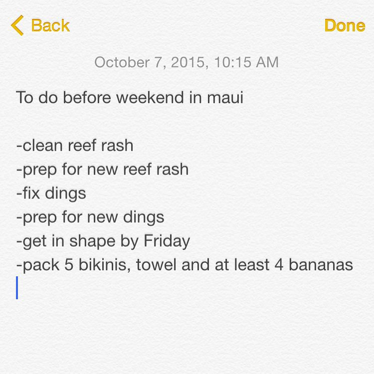 Wanna hang this week? Too bad, I'm busy #weekendtrip #maui #surf #reefrash #islandhopping