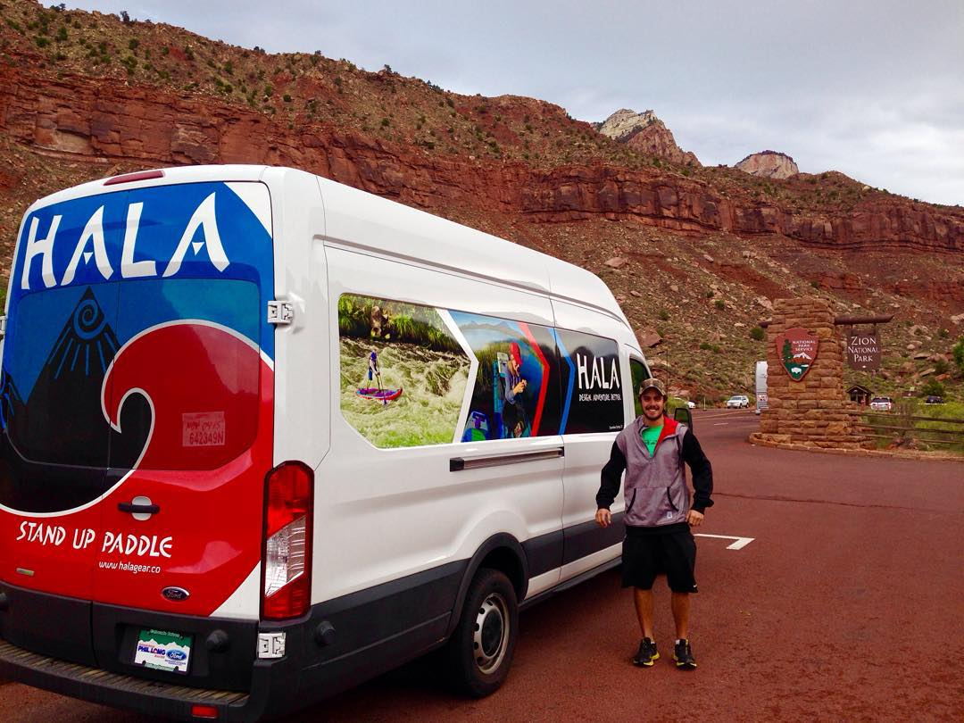 Hala team does Zion National Park. Heading to the Pacific Paddles Games. Stop by our booth to say hi and try out some paddleboards on the water. #ppg2015 #supiasummit #adventuredesigned #halagear #paddleboarding #adventuredesigned