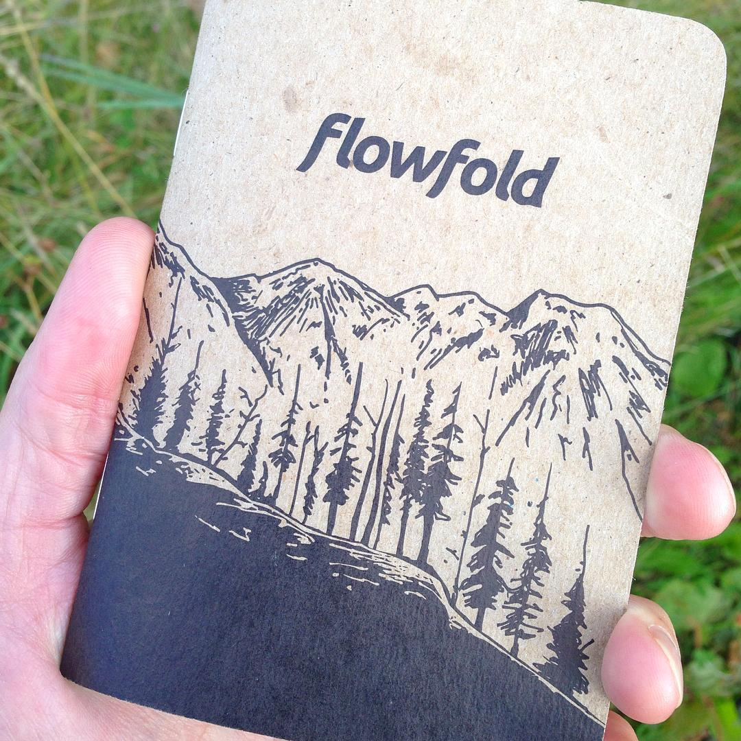 Thirty-two pages of wide open opportunity! Win this handy little @Flowfold @scoutbooks on Friday by sharing your moment with us. Tag your instagram post with #Flowfold and show us how you do your thing. Printed on 100% recycled paper and made in the USA.