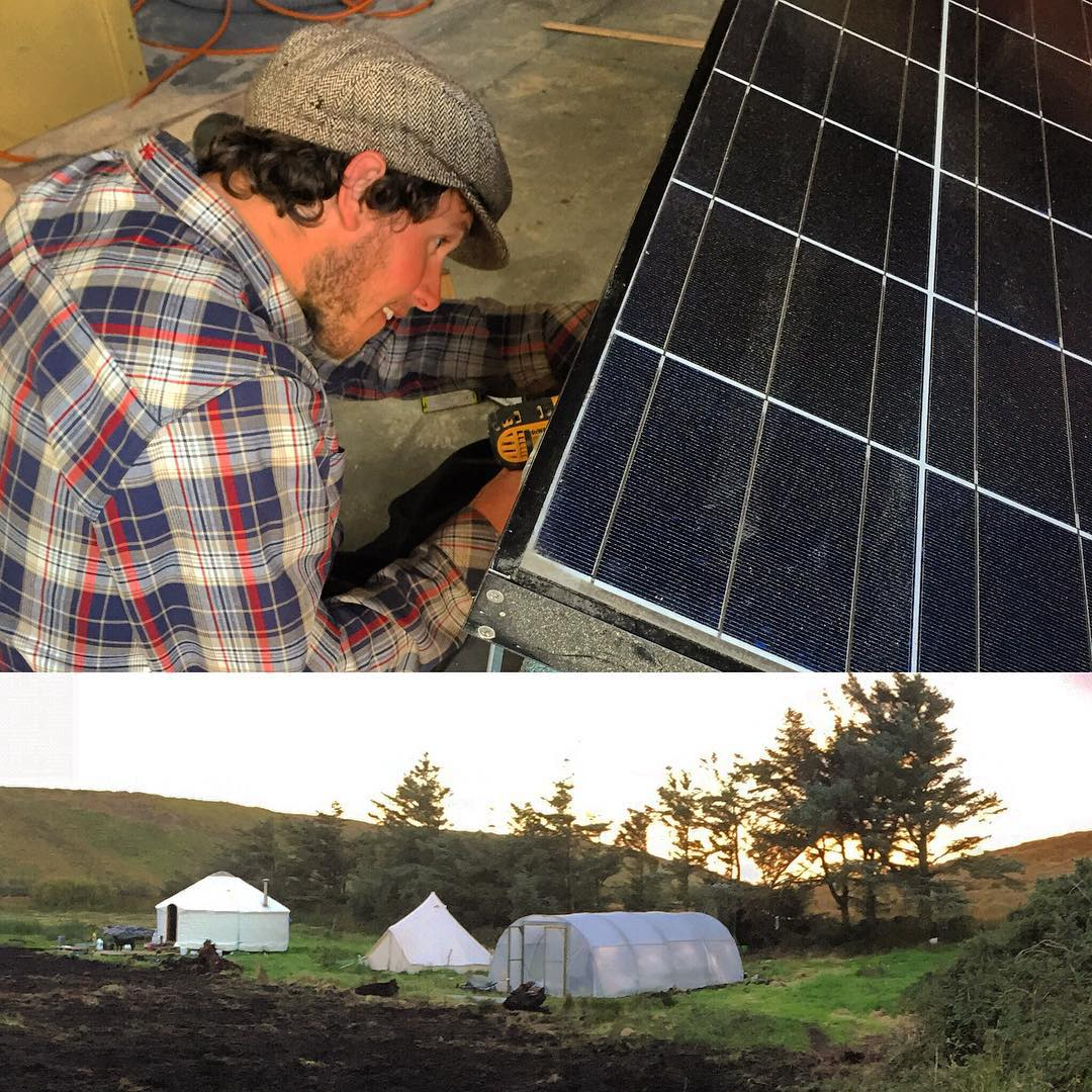 Had a fine time today helping Ireland's illusive big wave charger, Fergal Smith, build a portable solar panel box for use up on the new organic farm (that he and @honestcaptain have been creating from scratch) in the hills above the slabby reefs of La...