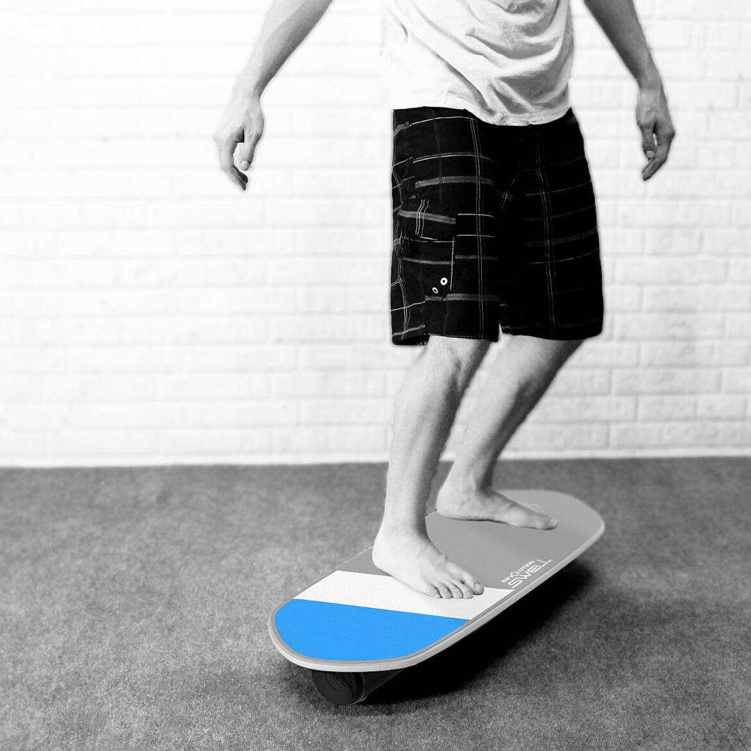 Summer may be over but that doesn't mean I can't work progress in my water sports! #swellboard  #revbalance #findyourbalance #balanceboards #madeinusa