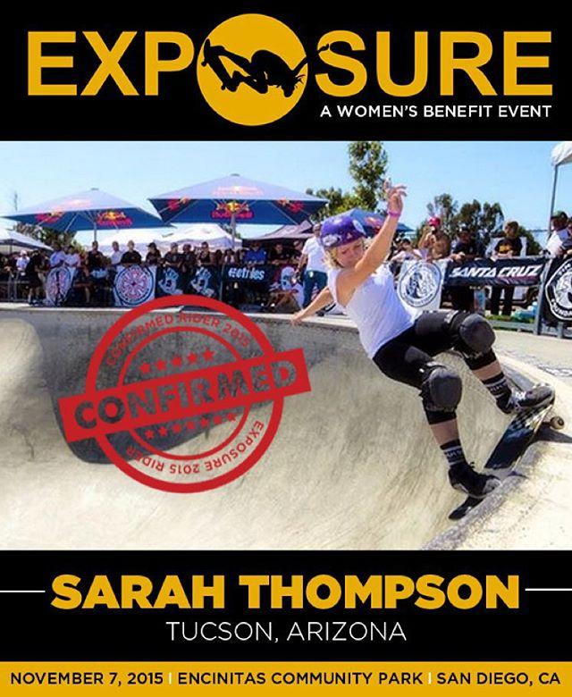 Sarah Thompson (@sarahshreds) confirmed for EXPOSURE 2015!
