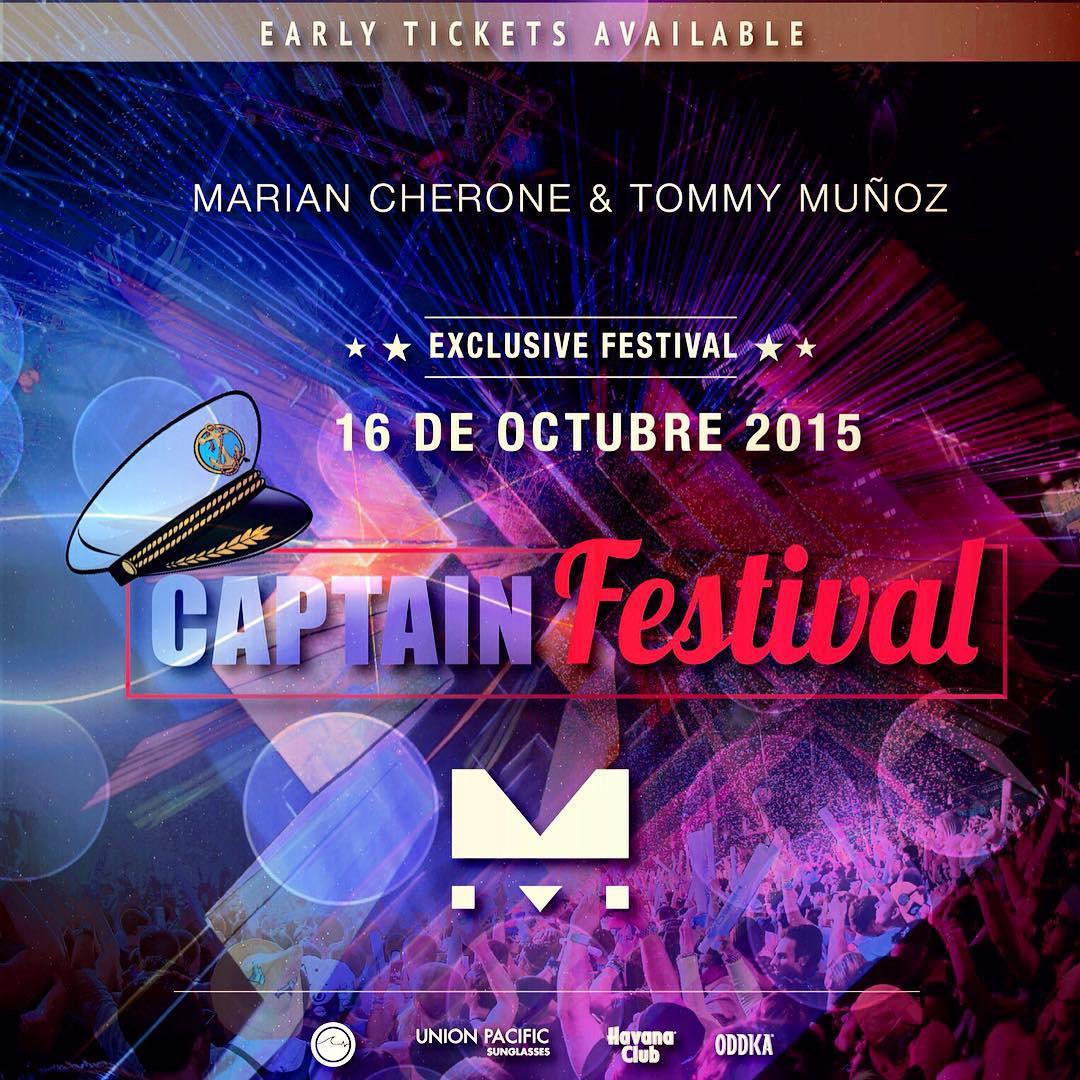 Como saben este mes es nuestro cumpleaños y por eso el 16 de Octubre volamos con todo junto a @mariancherone , @tommymunozdj y @islandbeatsmusic en la Capitan Festival II, consulta ya por tu entrada anticipada!!