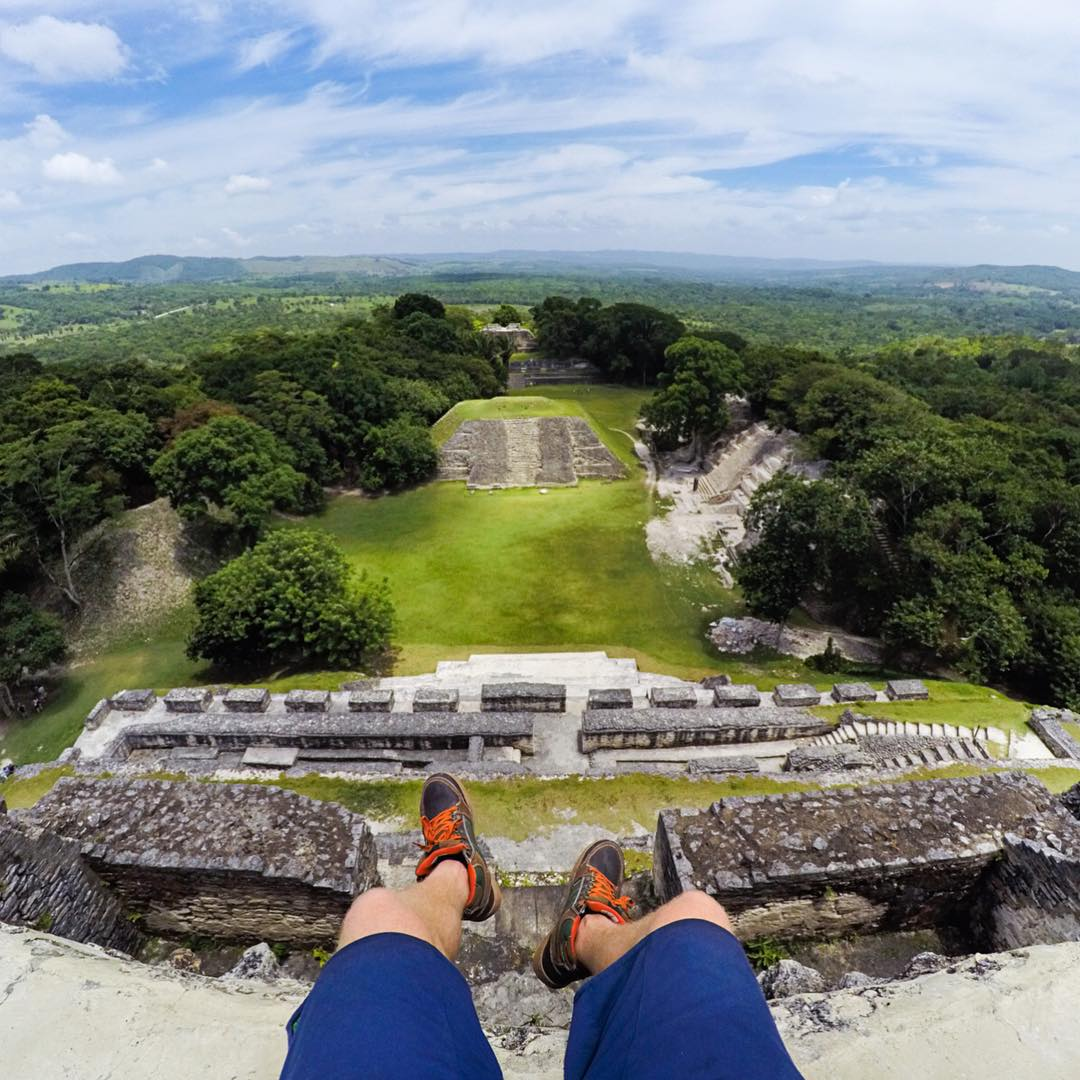 @travisburkephotography hanging out on Mayan ruins like it ain't no thang. #getoutthere #adventureworthy #Belize