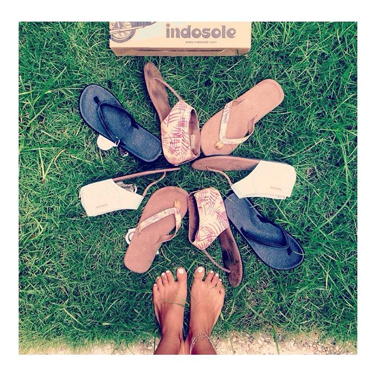 @veganinbali shows off her growing collection of Indos... We spot some well loved sandals & some with the tags still on