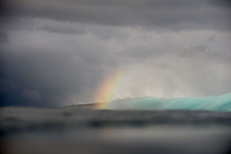 Over the rainbow #lifesbetterinboardshorts