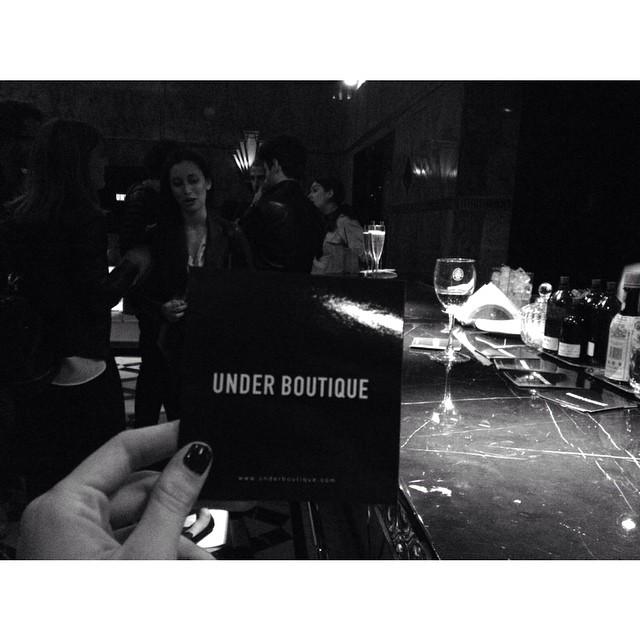 Ayer en el lanzamiento de @underboutique / Go check